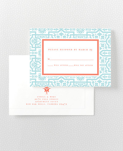 Architecture Letterpress RSVP Card