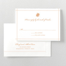Autumn Leaves - Letterpress RSVP Card