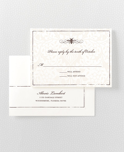 Belle Epoque Letterpress RSVP Card