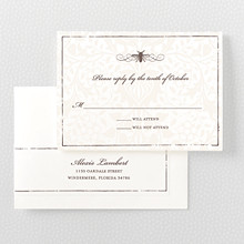 Belle Epoque---Letterpress RSVP Card