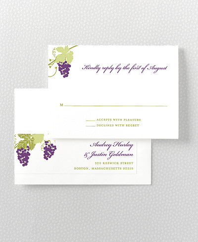 Bordeaux RSVP Card