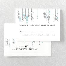 Chandelier: Letterpress RSVP Card