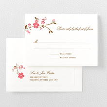 Cherry Blossom---Letterpress RSVP Card
