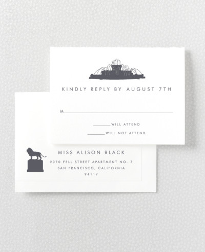 Chicago Skyline RSVP Card