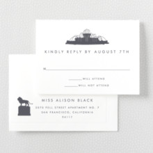 Chicago Skyline---RSVP Card