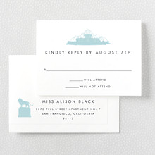 Chicago Skyline---Letterpress RSVP Card