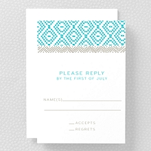 Cross Stitch - Letterpress RSVP Card