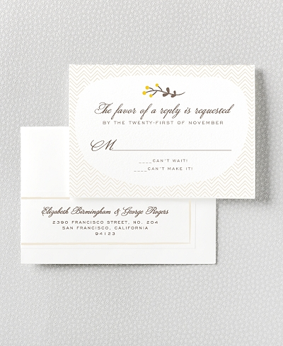 Darling Bud Letterpress RSVP Card
