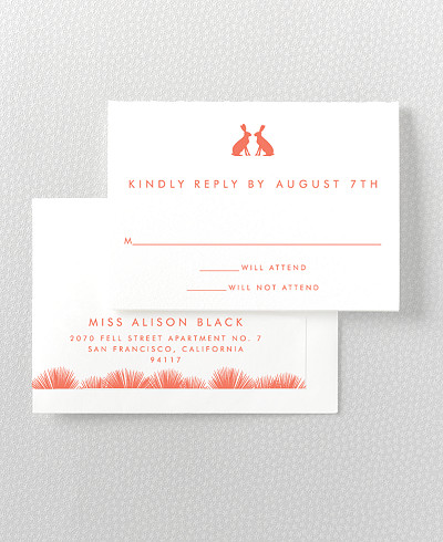 Desert Skyline RSVP Card