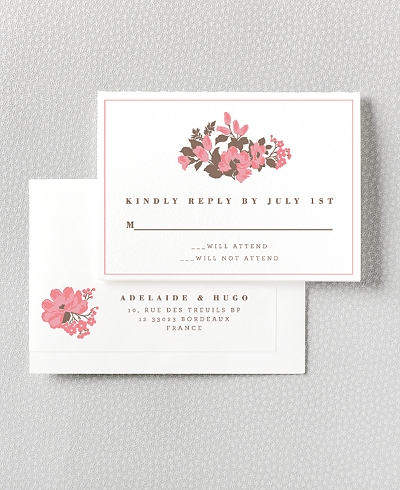 English Rose RSVP Card