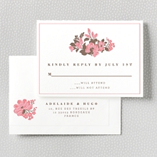 English Rose - RSVP Card