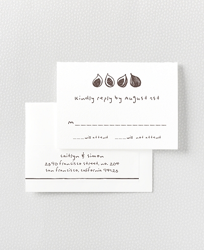 Figs Letterpress RSVP Card