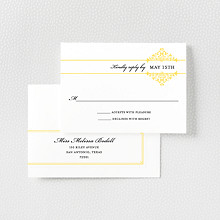 Fillmore - Letterpress RSVP Card