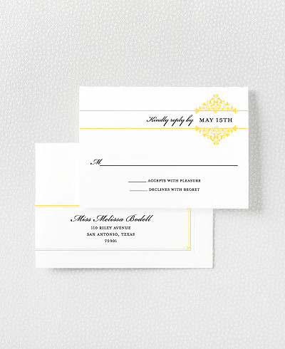 Fillmore Letterpress RSVP Card