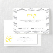 Ampersand - Letterpress RSVP Card