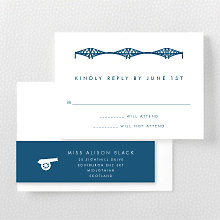 Edinburgh Skyline---RSVP Card