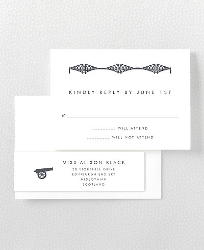 Edinburgh Skyline RSVP Card