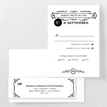 Flourish - Letterpress RSVP Card