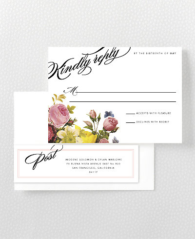 La Vie en Rose RSVP Card