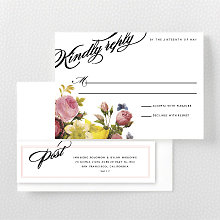 La Vie en Rose---RSVP Card