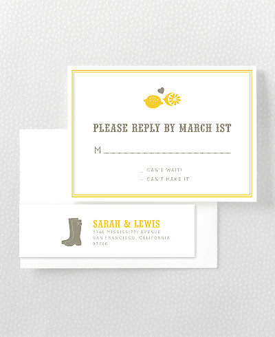 Lemonade Stand Letterpress RSVP Card