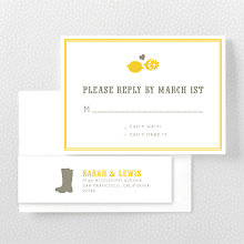 Lemonade Stand---Letterpress RSVP Card