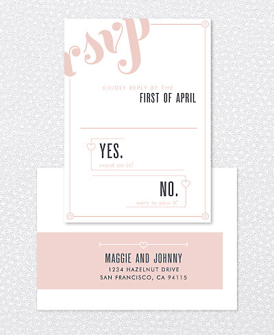 Love and Marriage RSVP Card