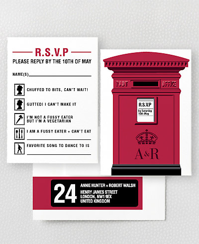 Love London RSVP Card