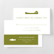 Mountain Skyline - RSVP Card