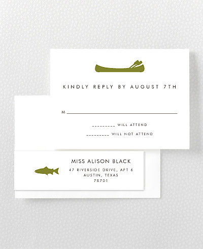 Mountain Skyline RSVP Card
