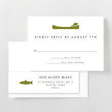 Mountain Skyline---RSVP Card
