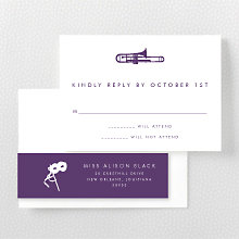 New Orleans Skyline: RSVP Card