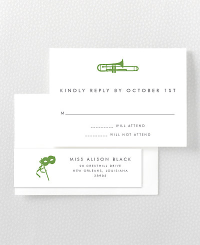 New Orleans Skyline RSVP Card