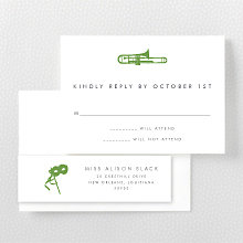 New Orleans Skyline - RSVP Card