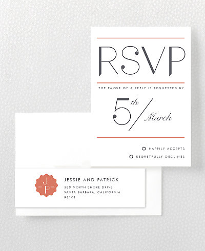 Pop Deco RSVP Card
