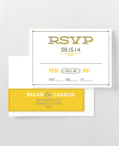 Shields and Arrows Letterpress RSVP Card