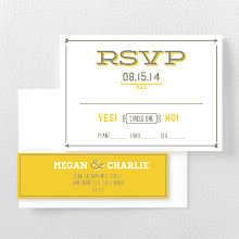 Shields and Arrows---Letterpress RSVP Card