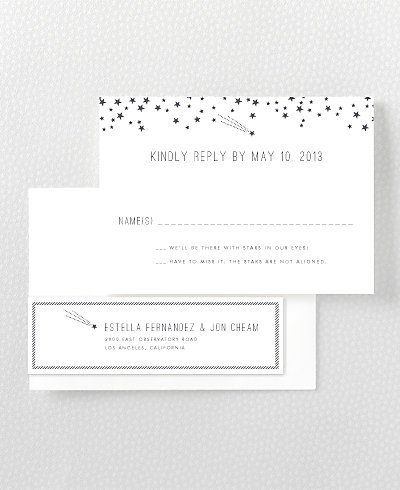 Shooting Star RSVP Card