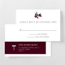 Wine Country Skyline: RSVP Card