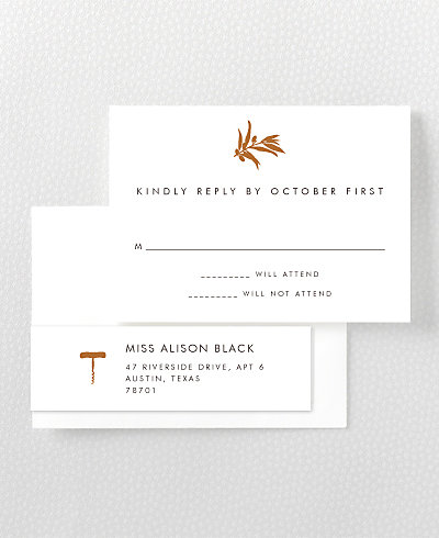 Wine Country Skyline RSVP Card