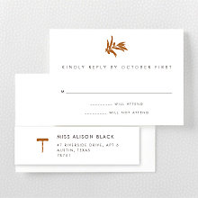Wine Country Skyline---RSVP Card