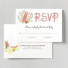 Flora and Fauna---RSVP Card