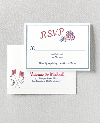 French Bicycle RSVP Card