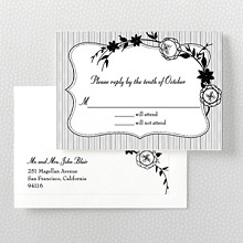 French Deco---Letterpress RSVP Card