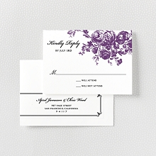 Gothic Rose---Letterpress RSVP Card