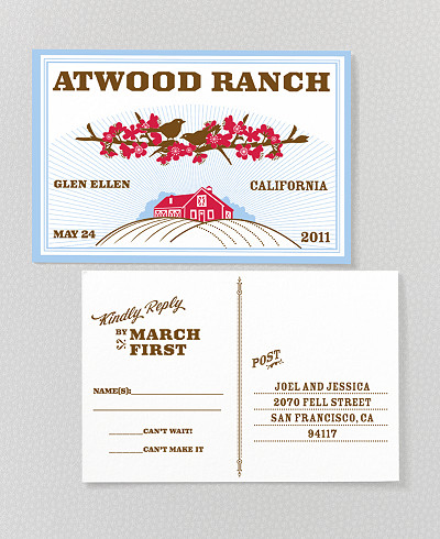 Heartland Letterpress RSVP Card