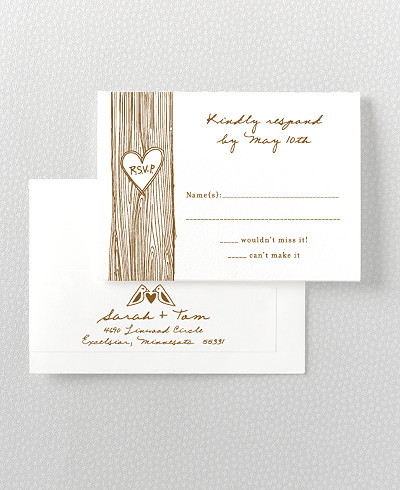 Home Sweet Home Letterpress RSVP Card