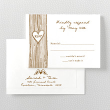 Home Sweet Home---Letterpress RSVP Card