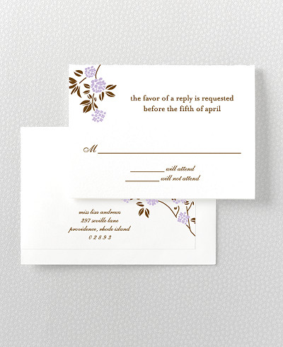 Honeysuckle RSVP Card