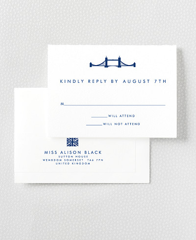 London Skyline RSVP Card